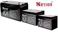 NEWLINE - Baterías Selladas y Libres de Mantenimiento Serie NETION 4V a 12V / 4AH a 200 AH